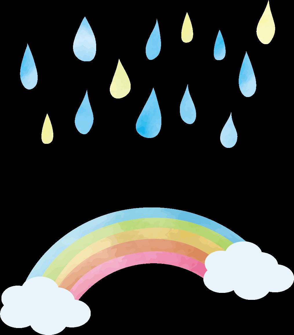 鹿児島みなみ保育園虹のイラスト